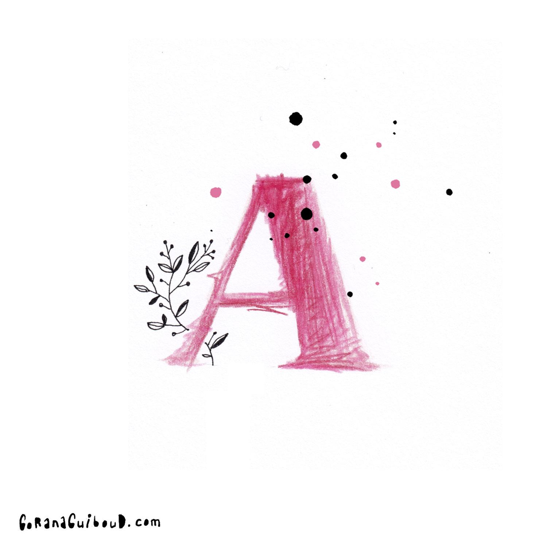Mein Alphabet - Von A -Z natürlich---Gezeichnet mit Buntstiften und Fineliner