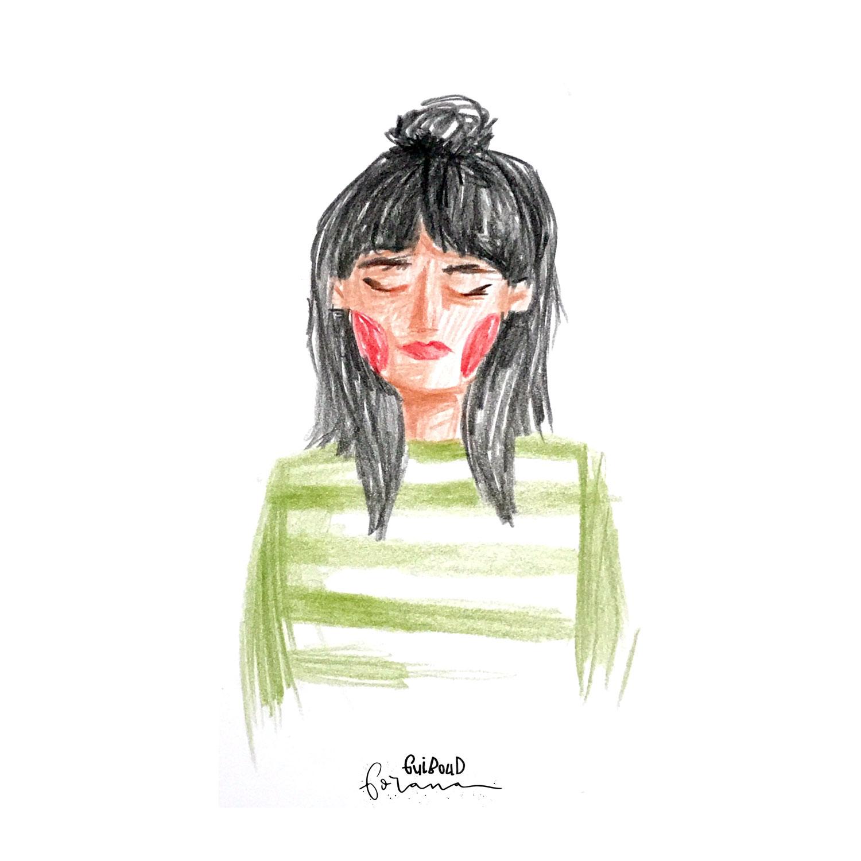 Schnelle Selbstportrait - ---Buntstifte