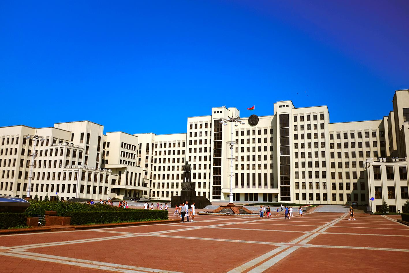 Independence square minsk Lenin
