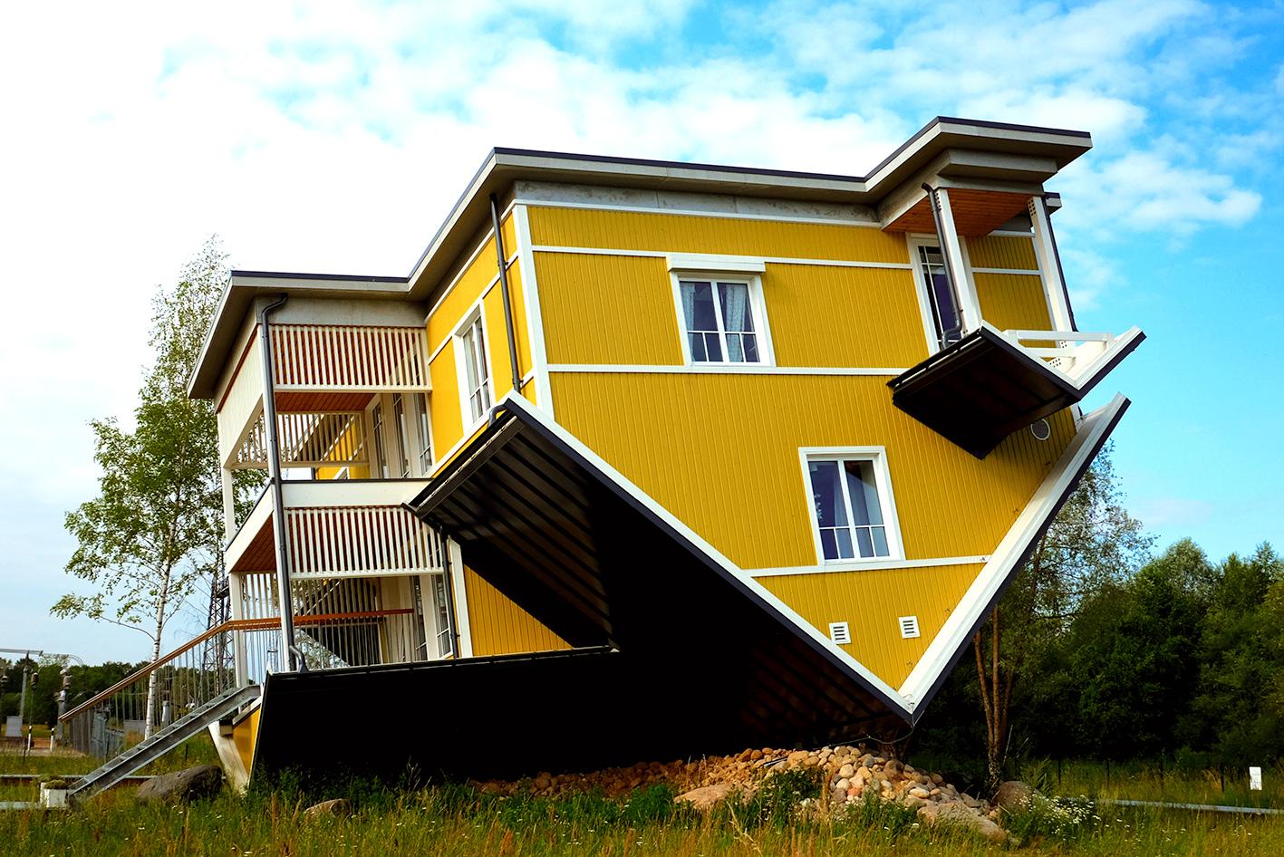 Upside down house Estonia