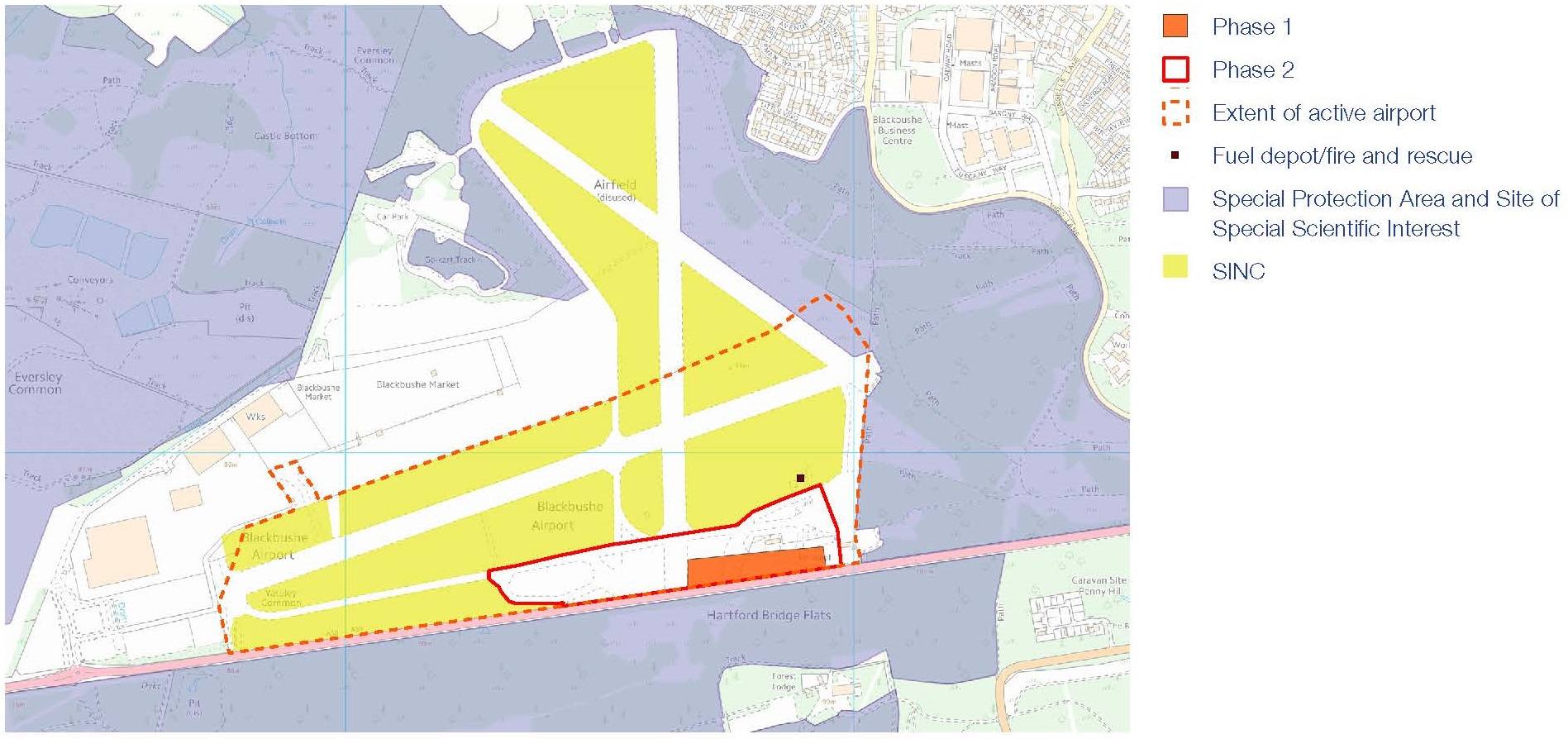 Blackbushe Airport Site Plan
