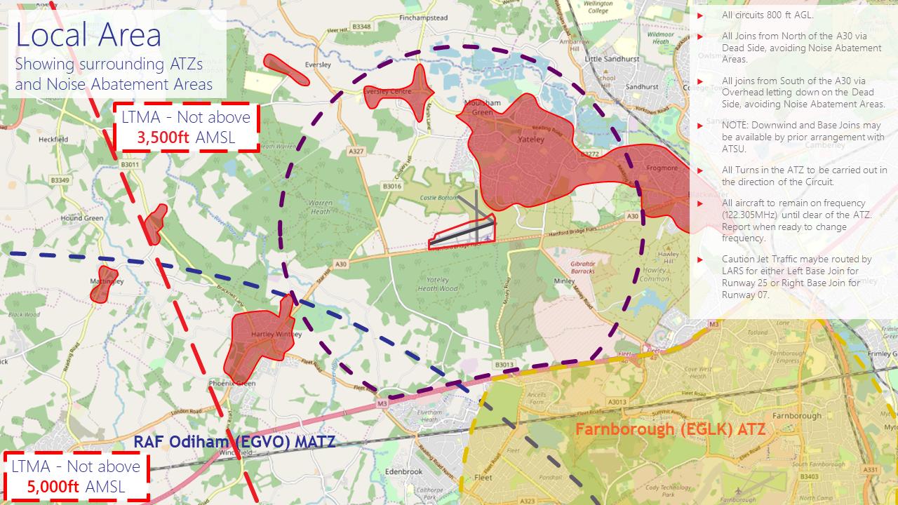 Diagram of ATZ and local area