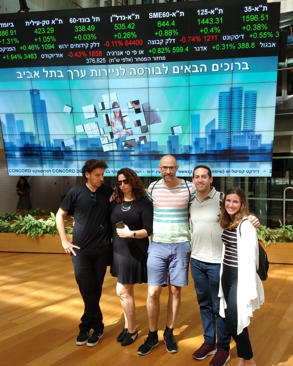Tel Aviv Stock Exchange Following a Presentation at the Innovation Center