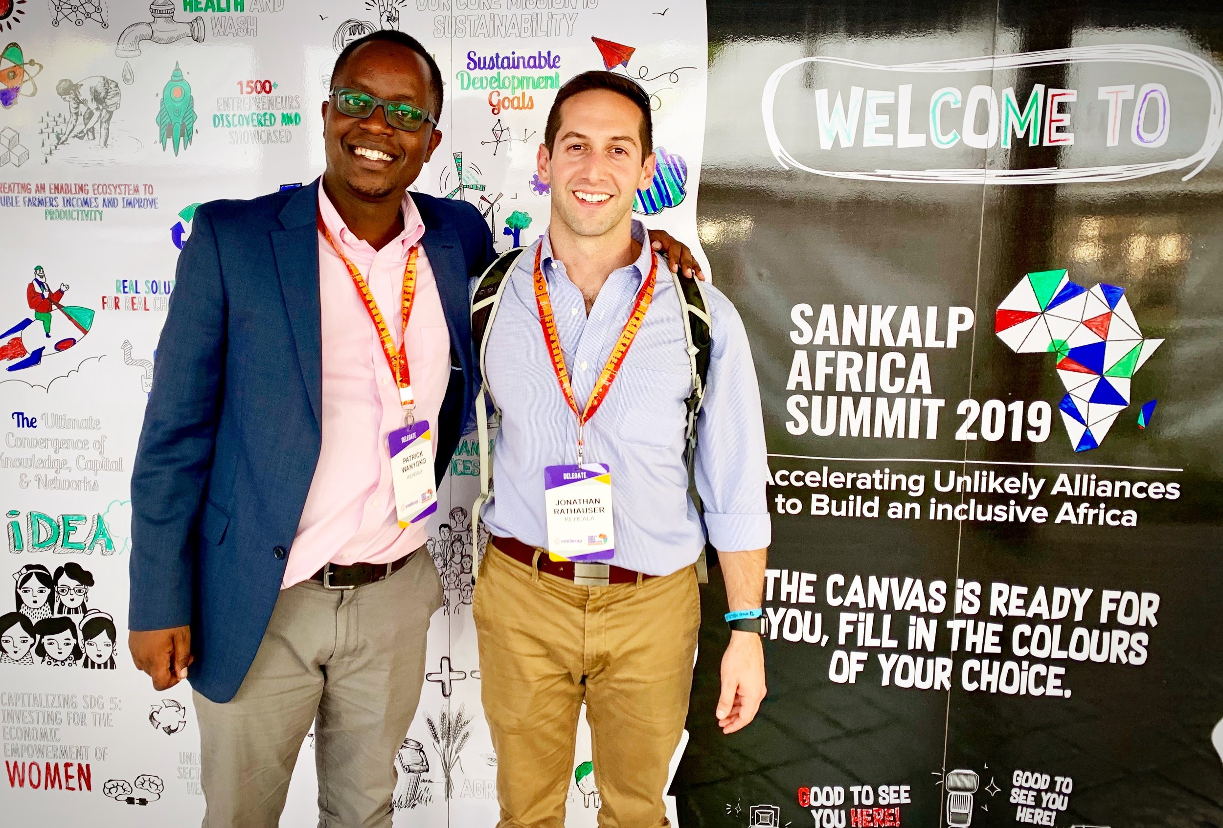 Patrick with Keheala's CEO & Founder at Sankalp Africa 2019