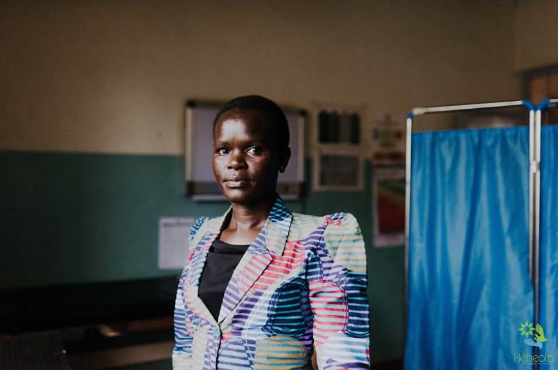 Elizabeth, a Keheala patient with Tuberculosis attends her local health care facility in Kenya. Photographed by Creatis Agency
