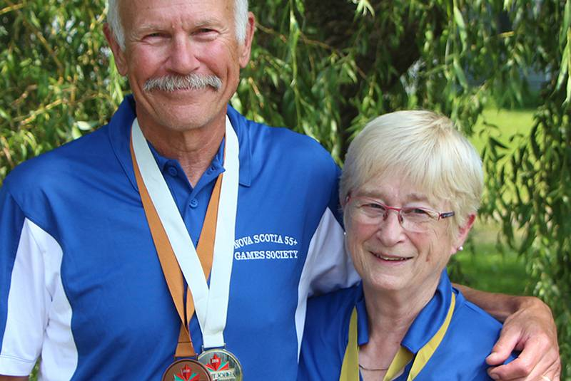 Mac and Mary Lew Murray of Pomquet Point Road in Antigonish County collected several medals as members of Team Nova Scotia during the recent Canada 55+ Games in Saint John. Corey LeBlanc - Corey LeBlanc