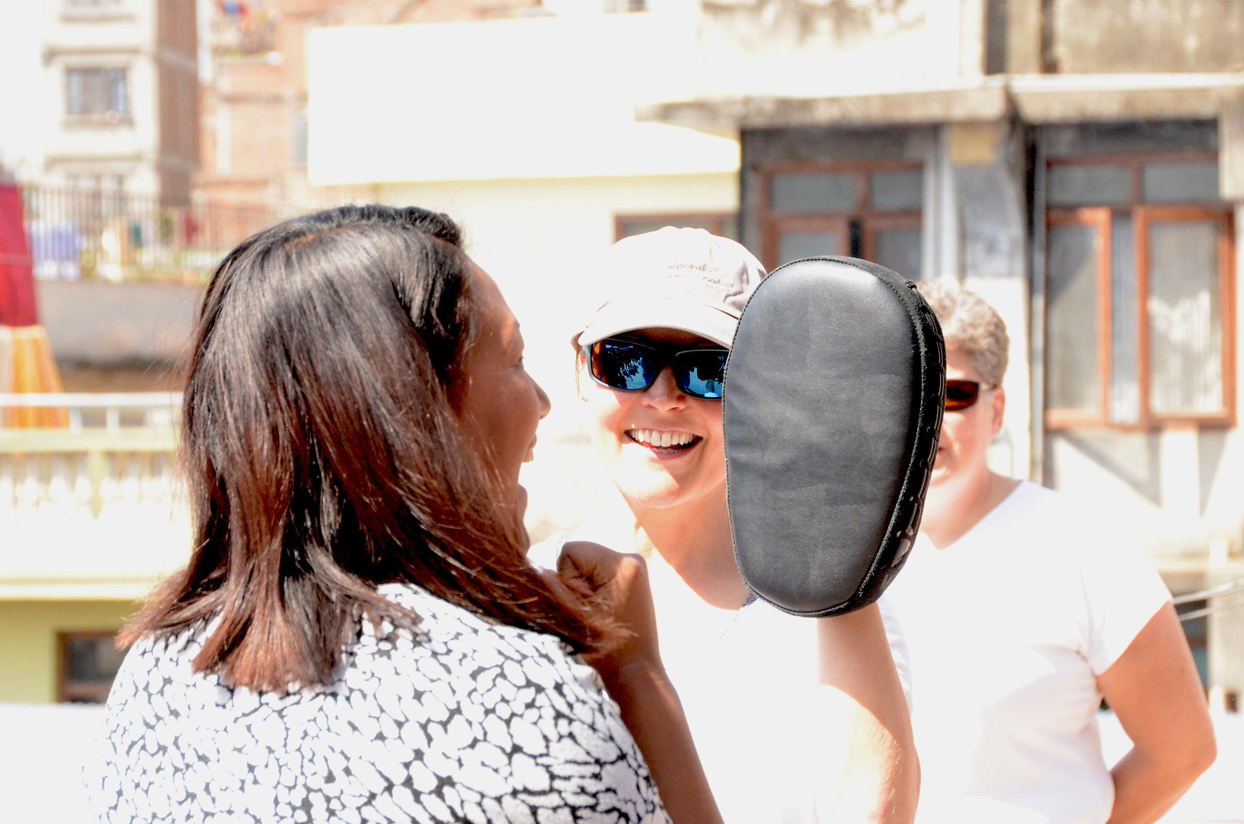 Teaching Self-Defense in Kathmandu, Nepal