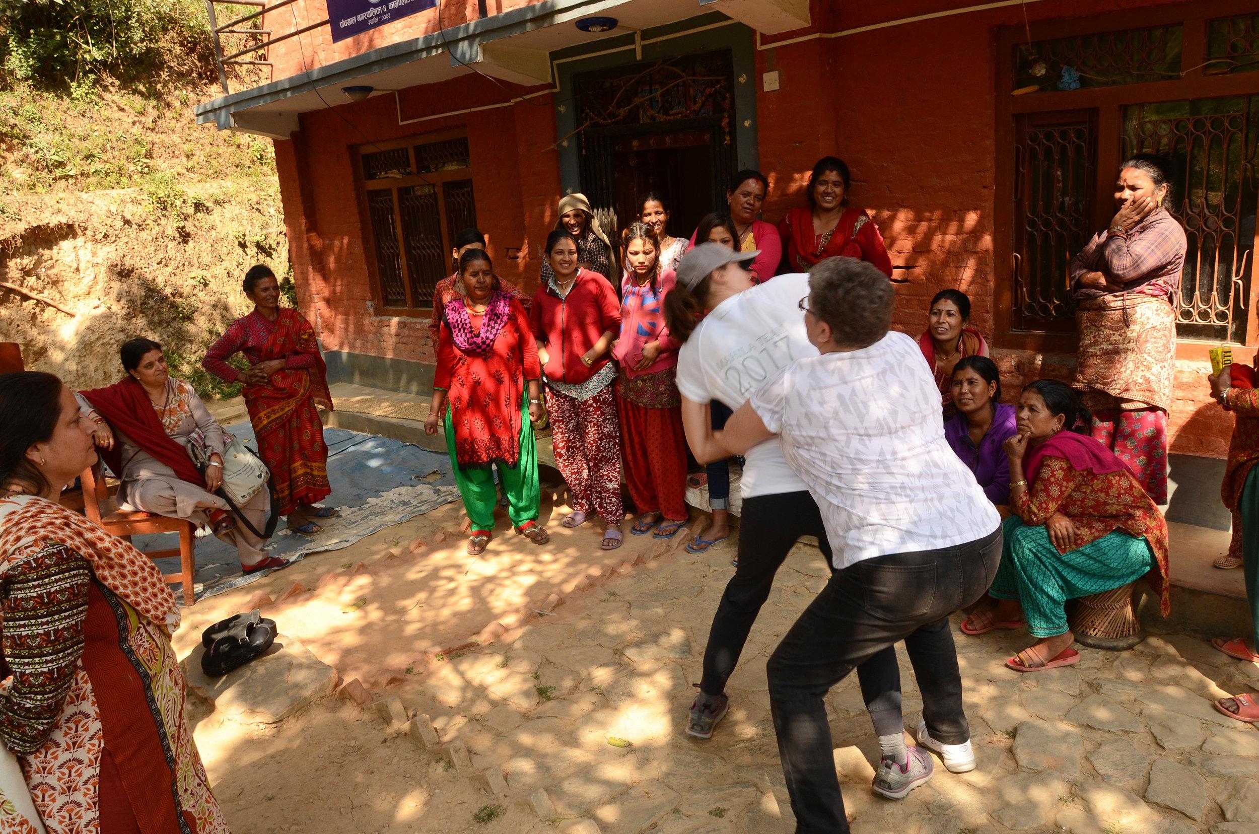 Teaching Self-Defense in Keragi, Nepal
