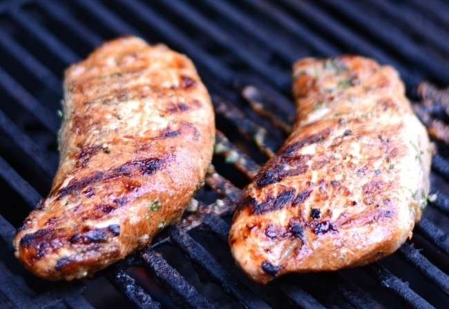 Grilled Marinated Turkey Tenderloin -