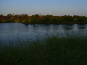 Looking across the Rio Grande to Mexico at dawn.