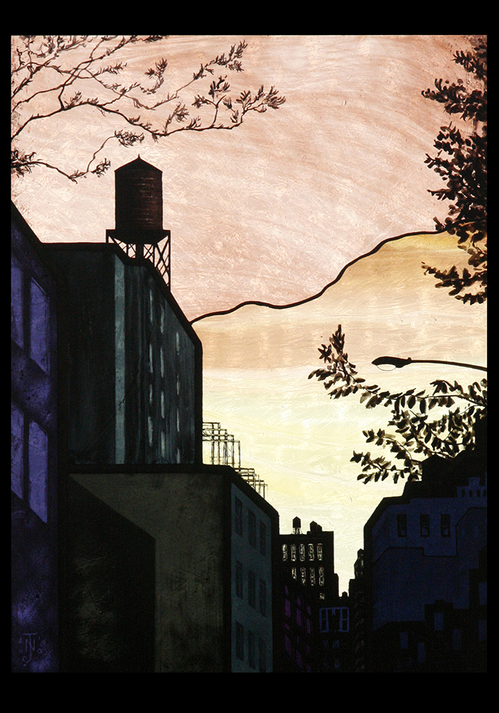 """East Village Sunset"""