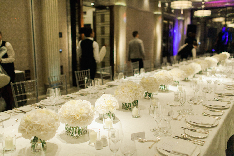 Corporate dinner flowers