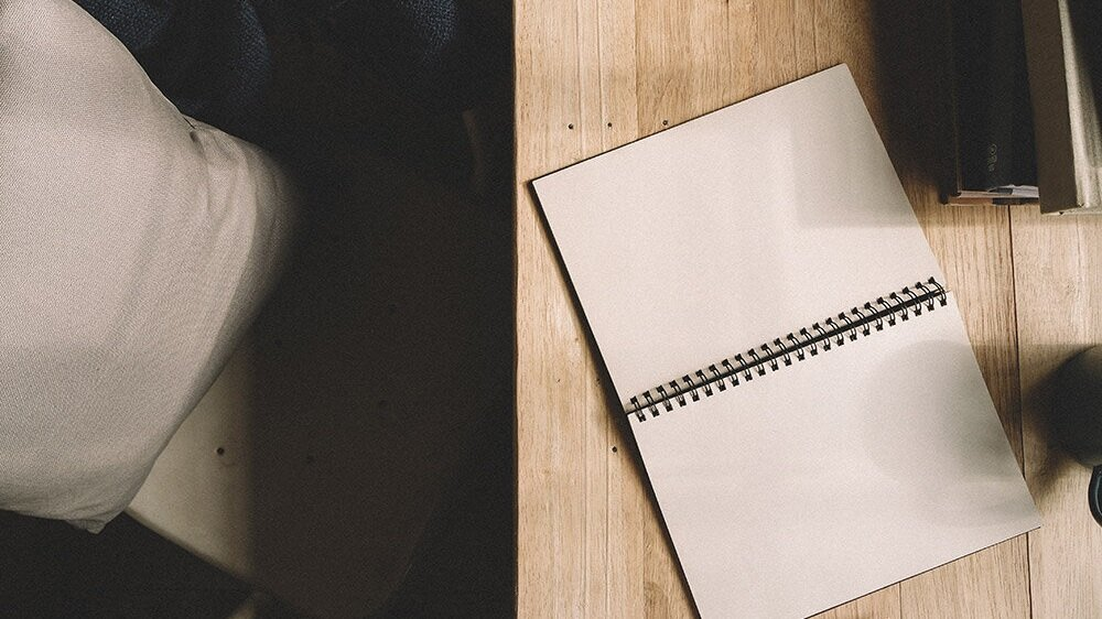 Never start with a blank page