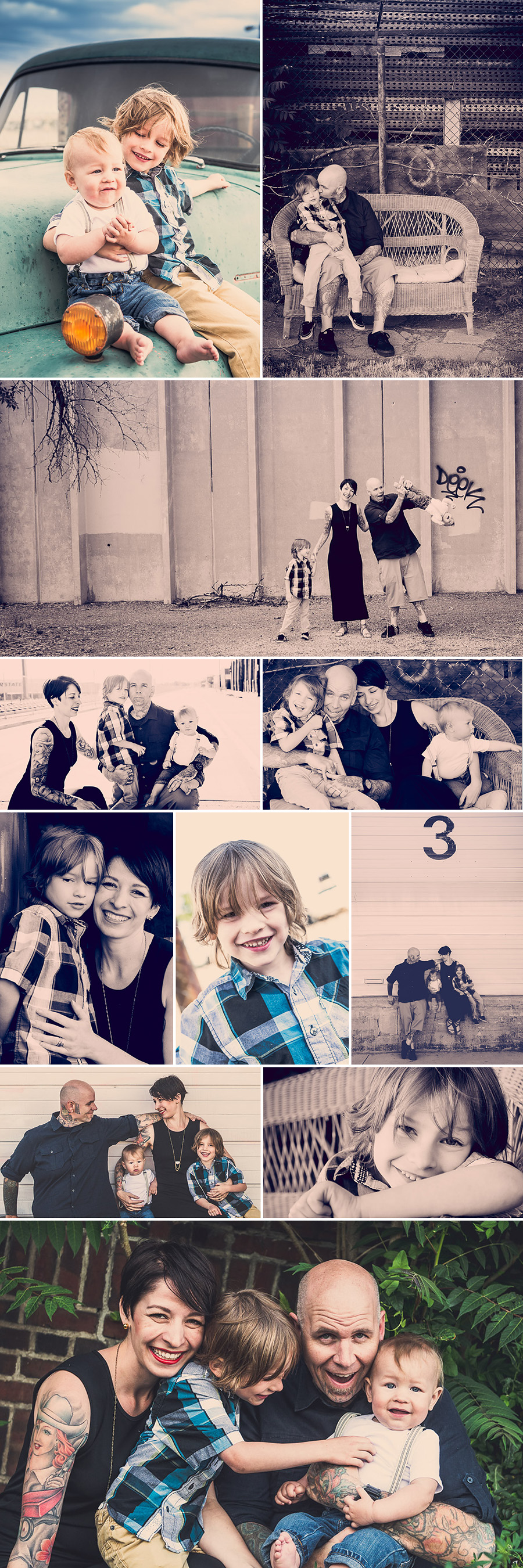 Denver RiNo Family Photography collage Hydle 3