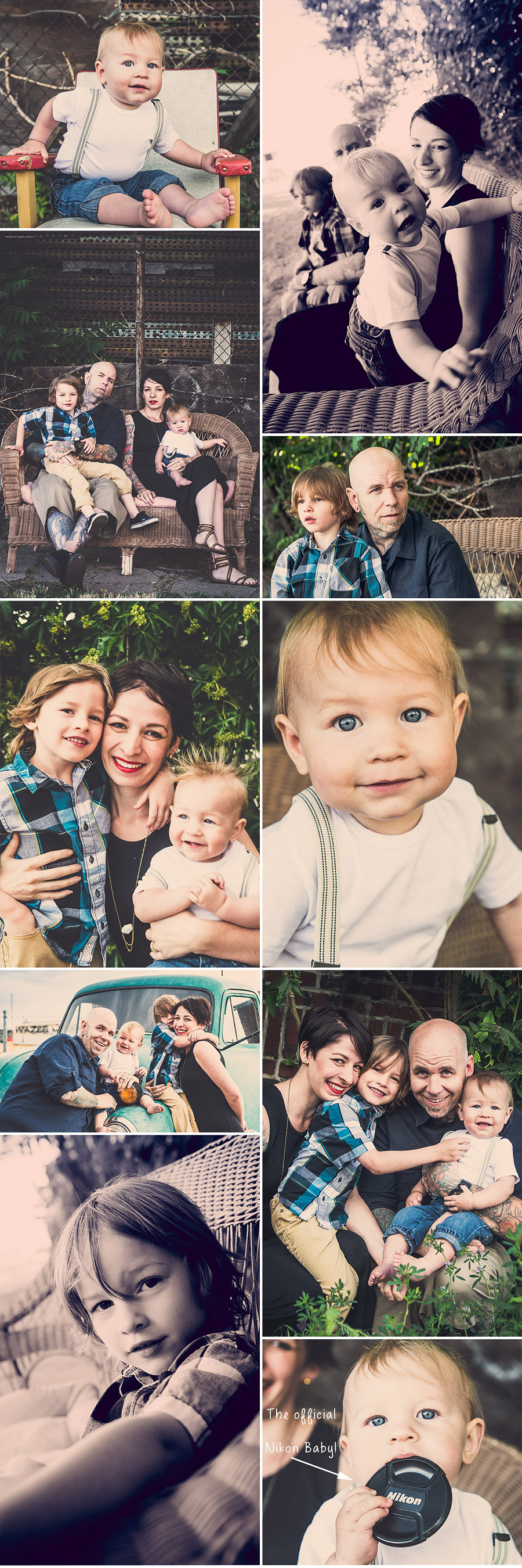 Denver RiNo Family Photography Hydle Collage 1