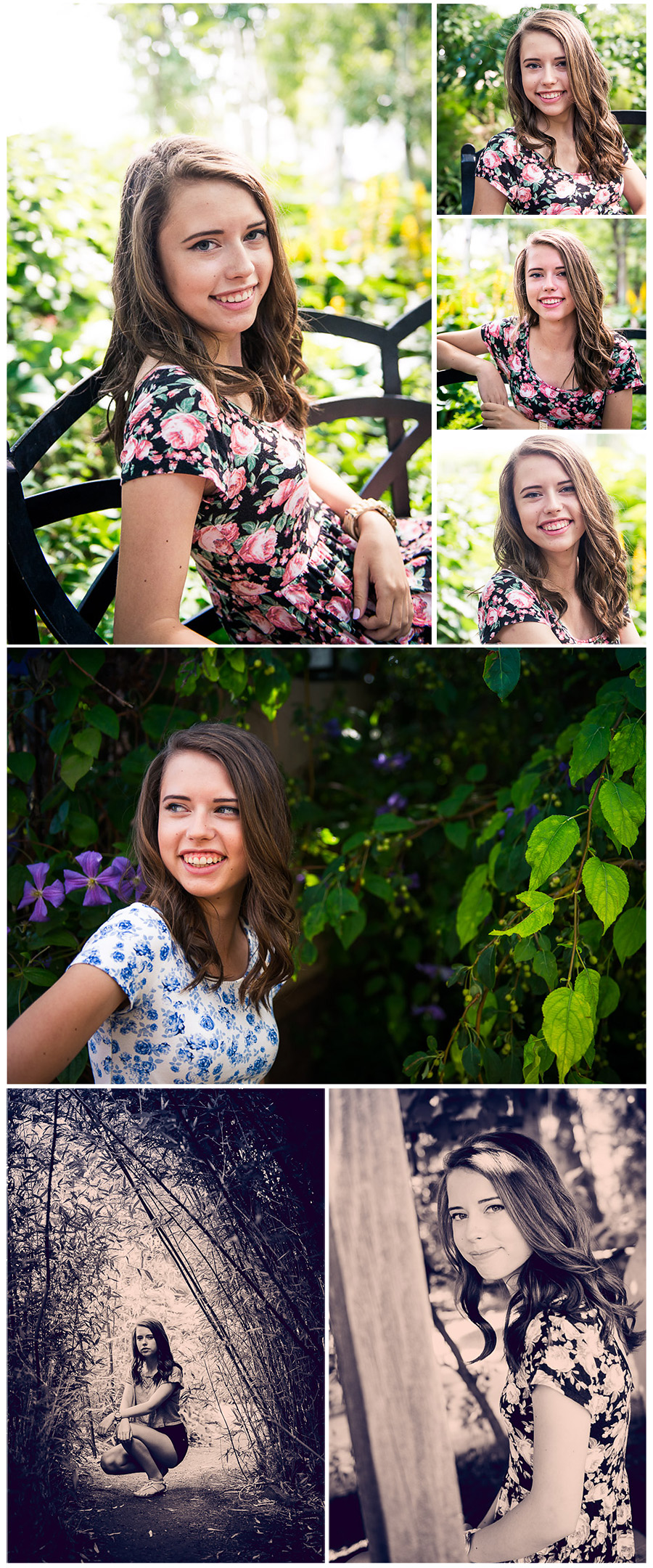 senior photo session Berkeley collage 3