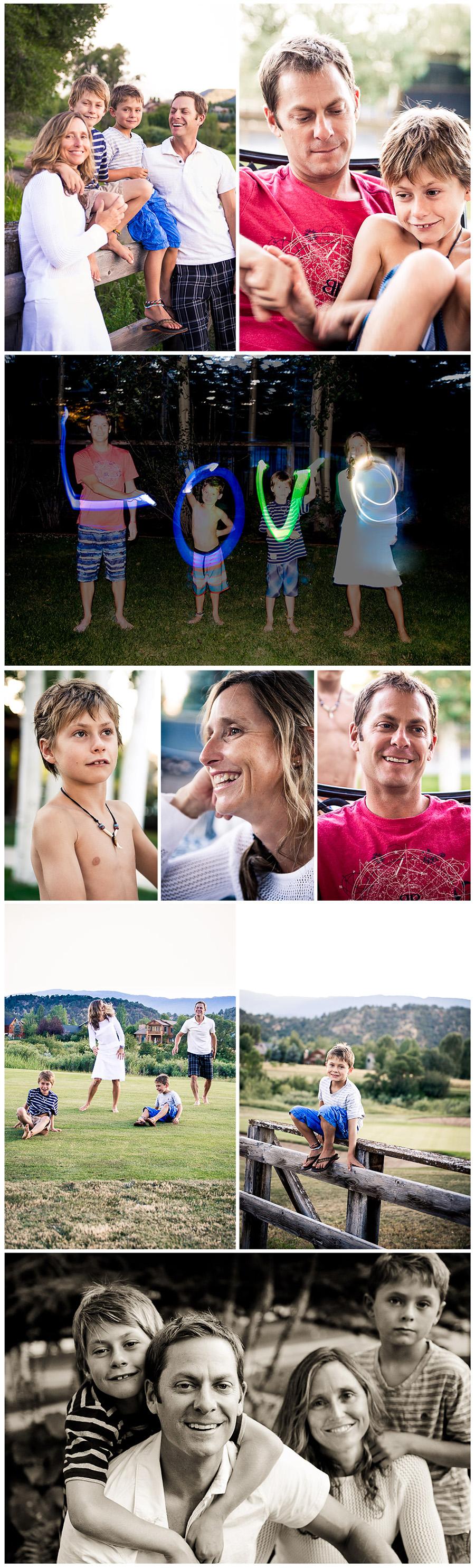 Yoga photos Carpenter Familly Collage 2