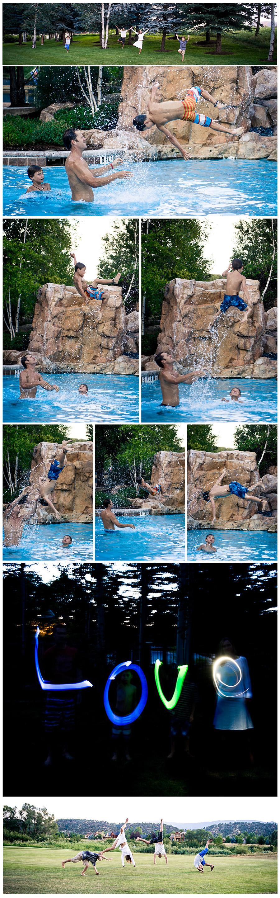 Yoga photos Carpenter family collage 1