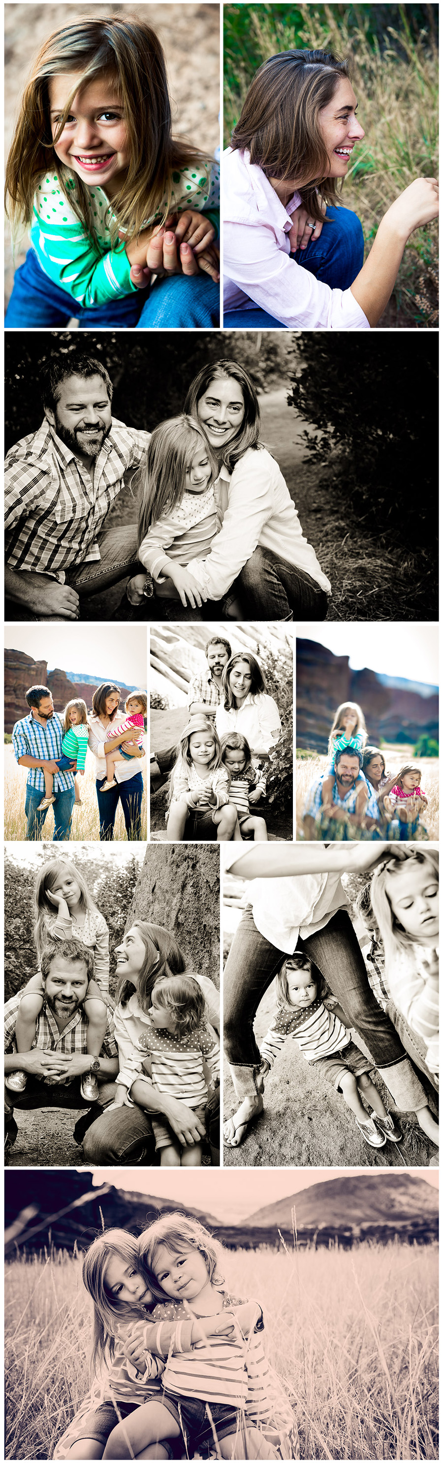 Family Photos in Golden - Howe Collage 2