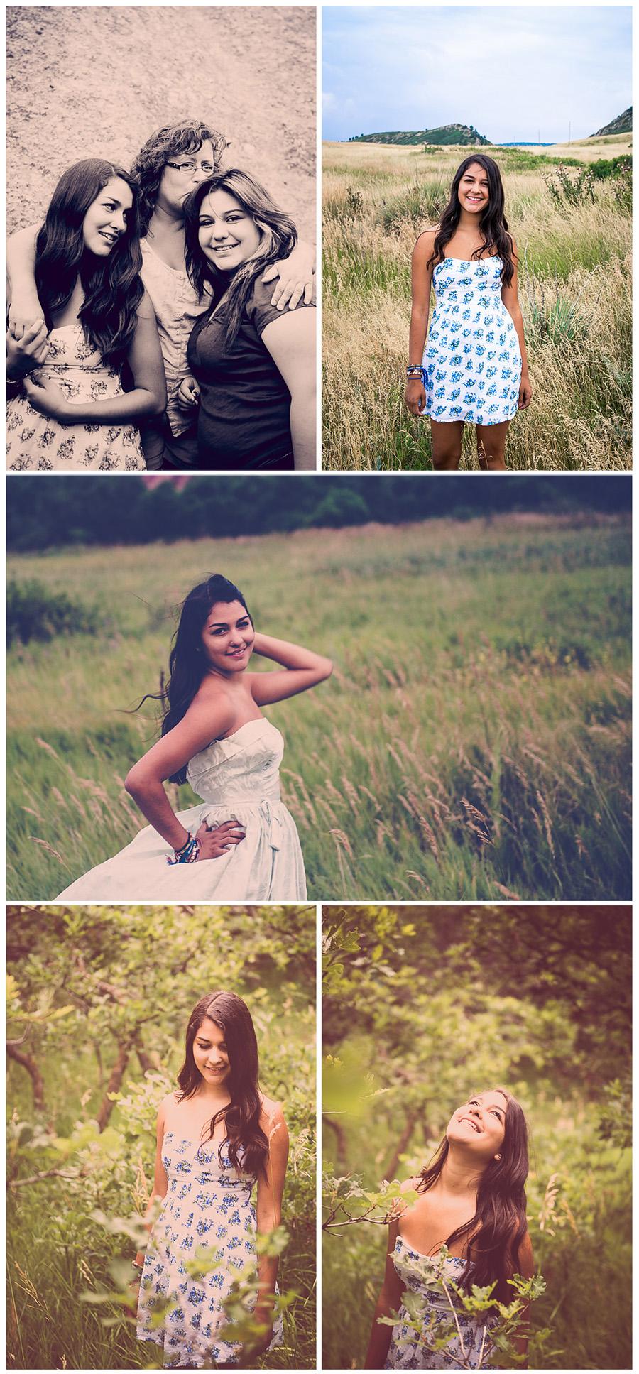 East High School Senior Pictures Jasmine Collage 4