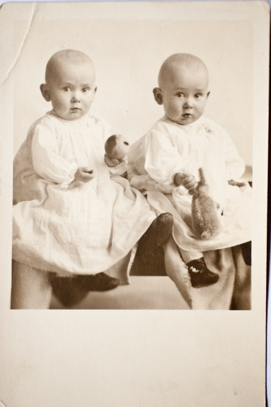 Photo I Never Took - twin baby girls 1918