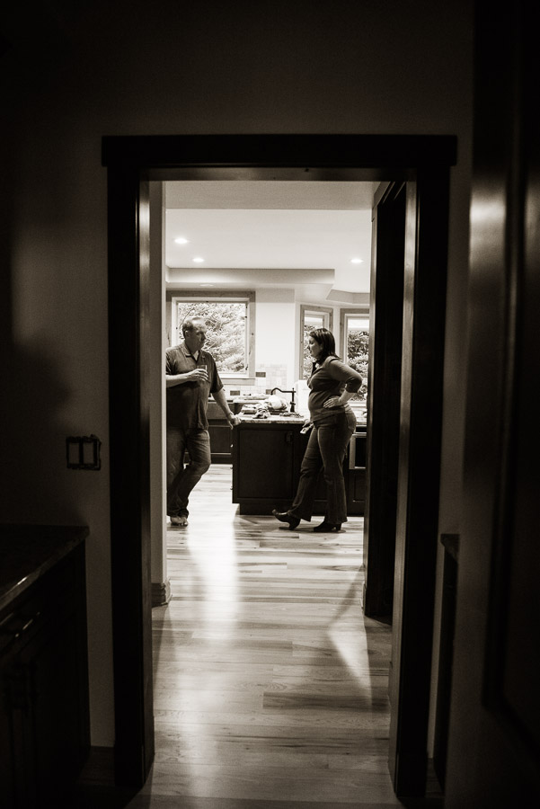 A Day in the Life of a designer - talking to client through doorway