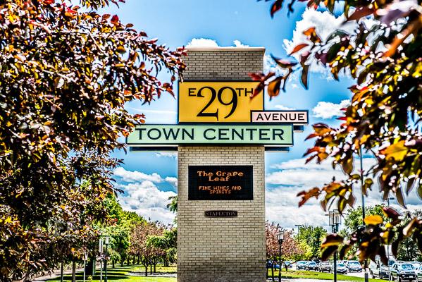 Stapleton Town Center Sign.