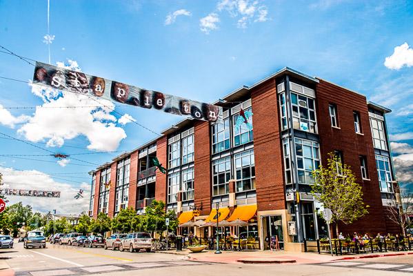 Downtown Stapleton neighborhood center.