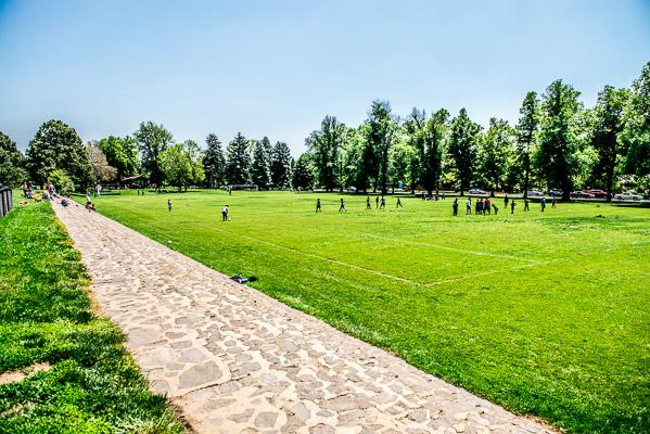Congress Park soccer fields.