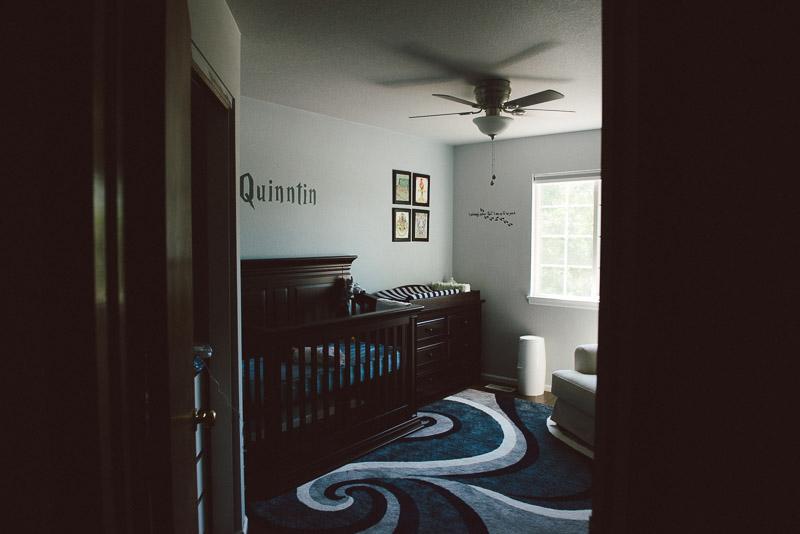 photo of harry potter themed newborn infant bedroom nursery