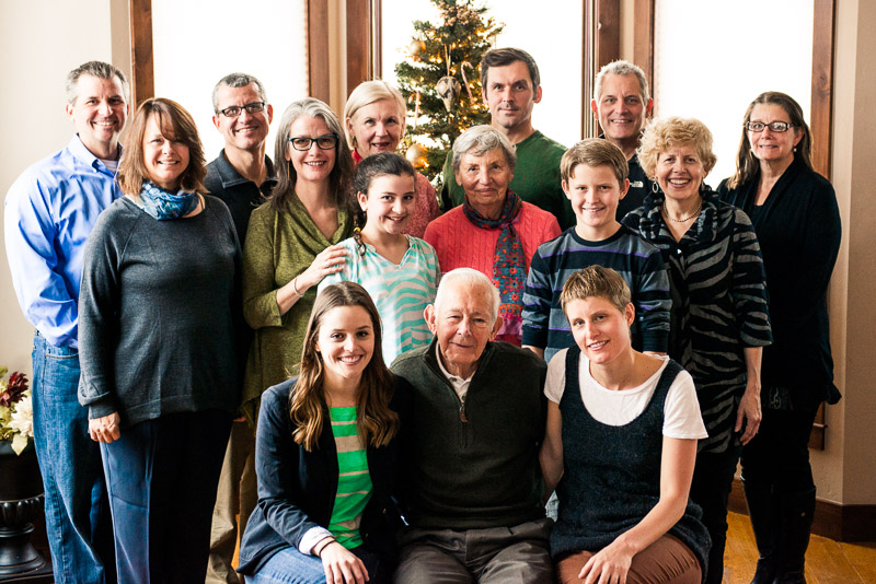 Typical large group family portrait in Denver