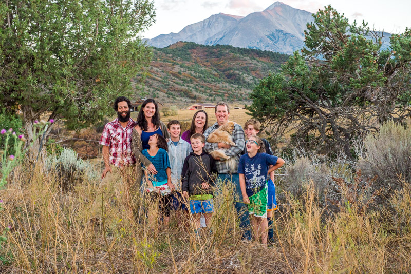 Large group family photos denver