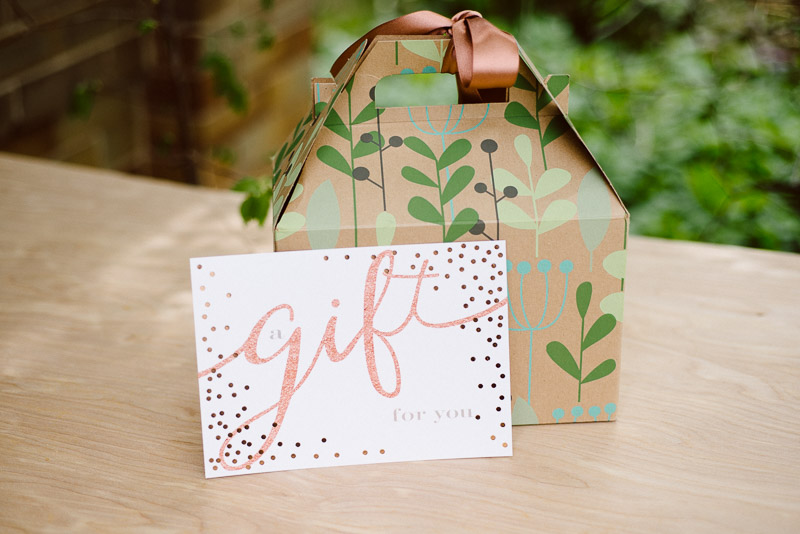 mother's day gift - gift certificate and gift box