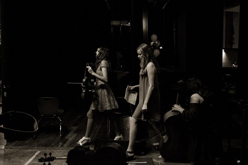 girls backstage