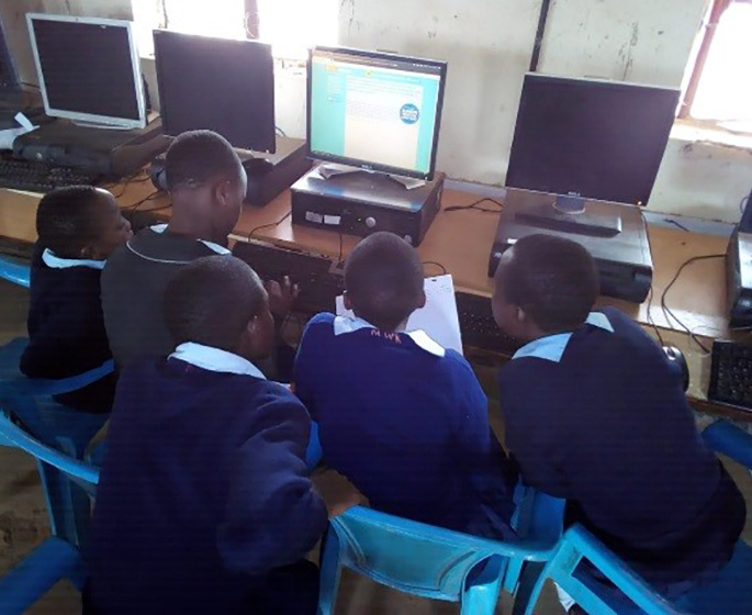 Children taking part in the iMlango Junior Debaters Contest