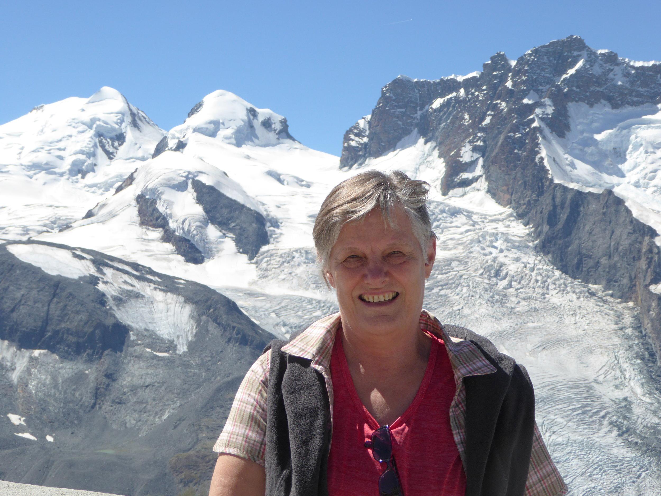 auf einer Bergtour im Wallis