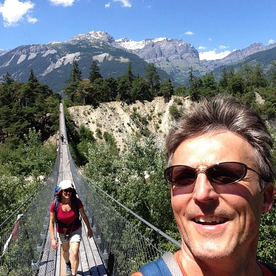 Wandern in der Schweiz zusammen mit meiner Frau ist mein liebstes Hobby.