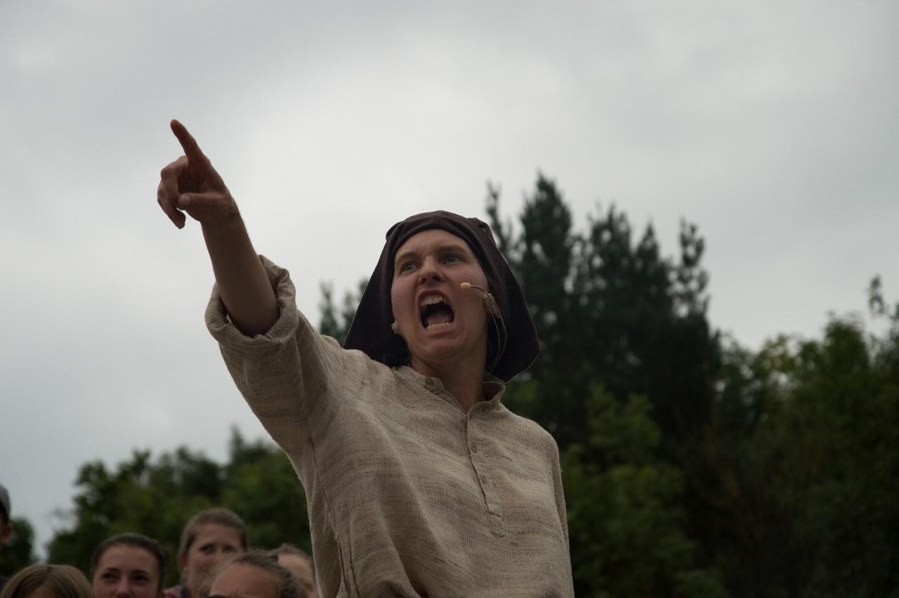 Theater-Auftritt in einem regionalen Cevi Lager (OLaLa 2017, Thema Reformation): Mit Lautstarker Stimme setze ich mich für mehr Gerechtigkeit ein.