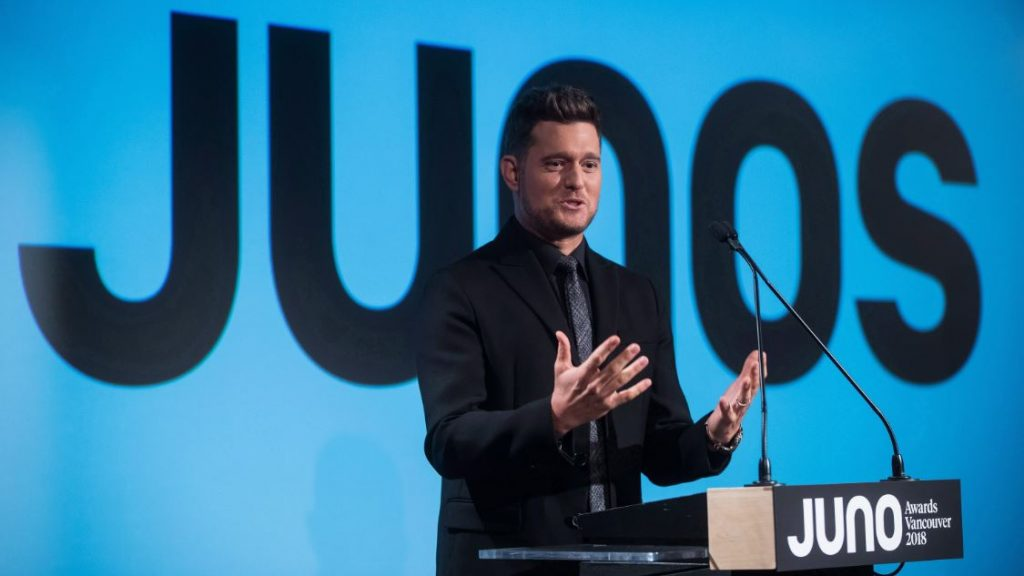 Michael Bublé  at the 2018 Juno Awards Nominations - Photo courtesy of  Kingston's K-Rock 105.7