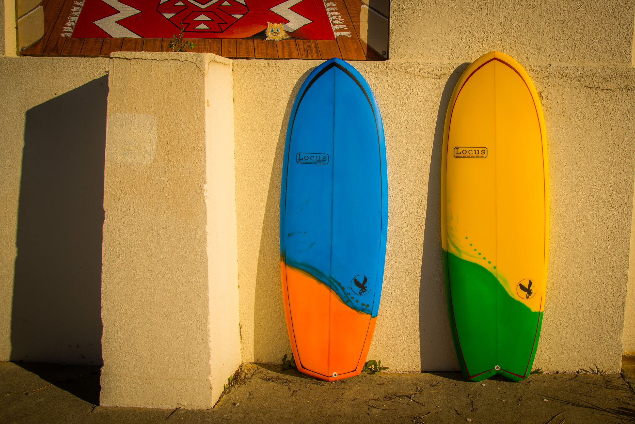 Gibbon, surf, surfboard, ecoboard, hand shaped, santa cruz, california, Locus, Locus Surfboards,quad, made in america