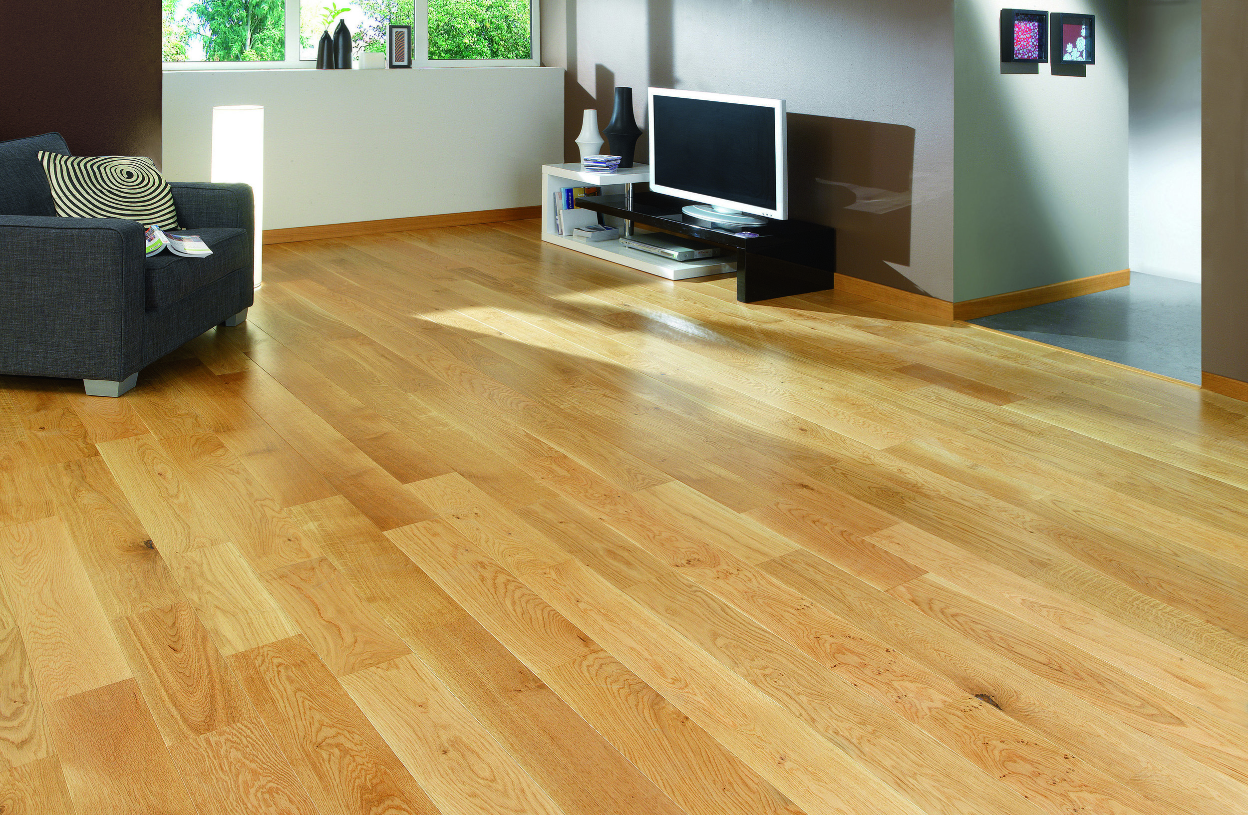 Satin Wood Floor
