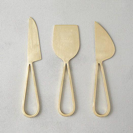 Terrain Brass Loop Handle Cheese Knives.jpg