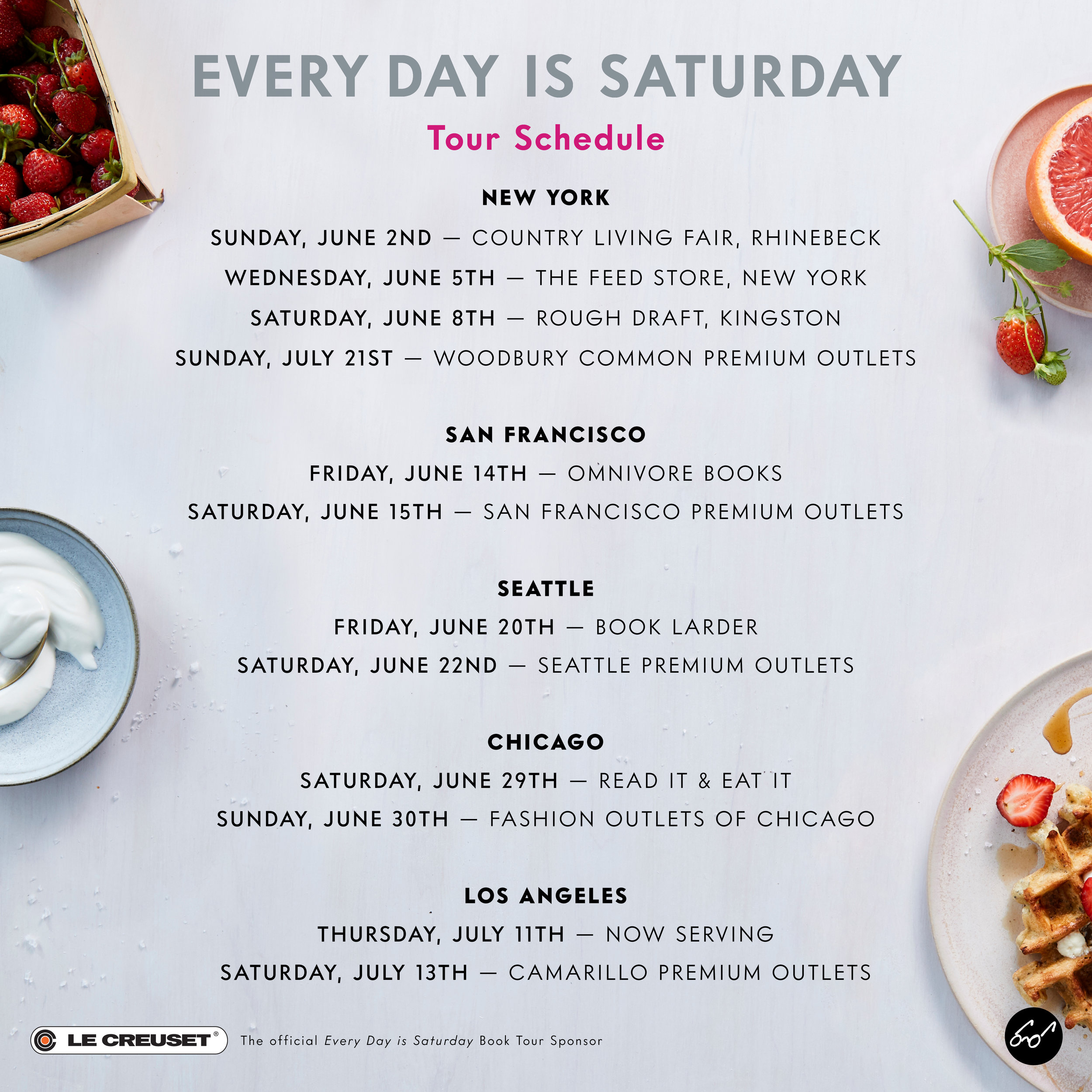 SARAH COPELAND BOOK TOUR // EVERY DAY IS SATURDAY