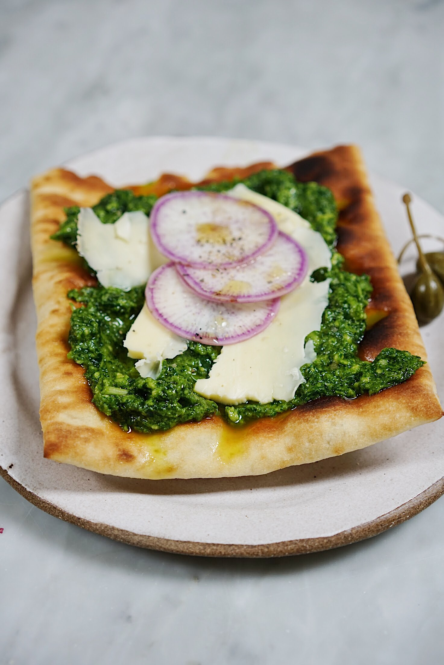 Le Cremeux and Mint-Kale Pesto Tartines + A Giveaway (personalized wheel of cheese!)