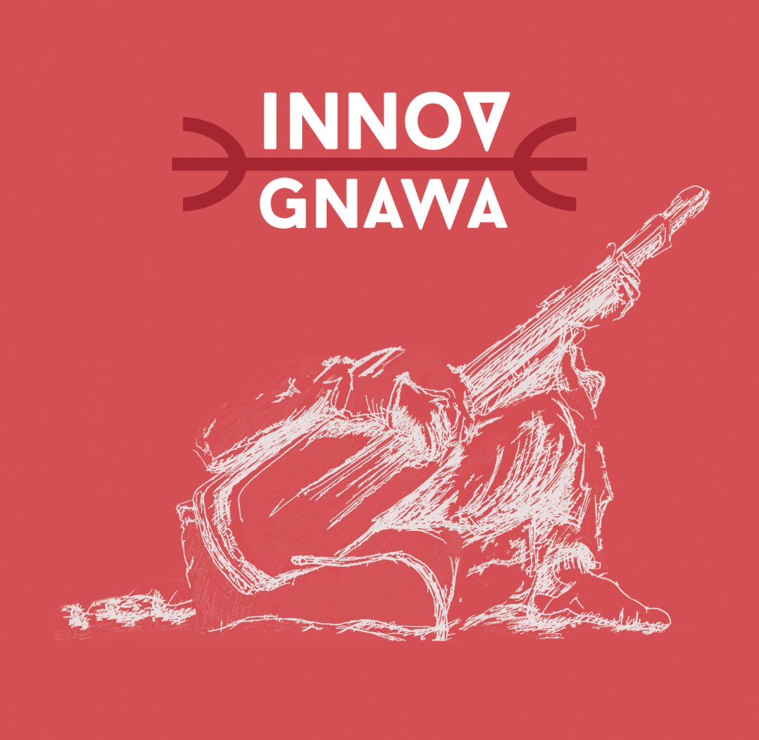 Innov Gnawa  Metal castanets (qraqeb) carry the hypnotic grooves, as the bass (guembri) and chants take you higher and higher.