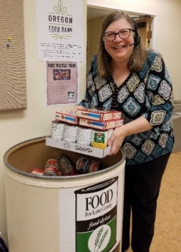 Food For Lane County - For three weeks, the Ward office was divided into five fiercely competitive teams, tasked with bringing in foods to donate to Food for Lane County.