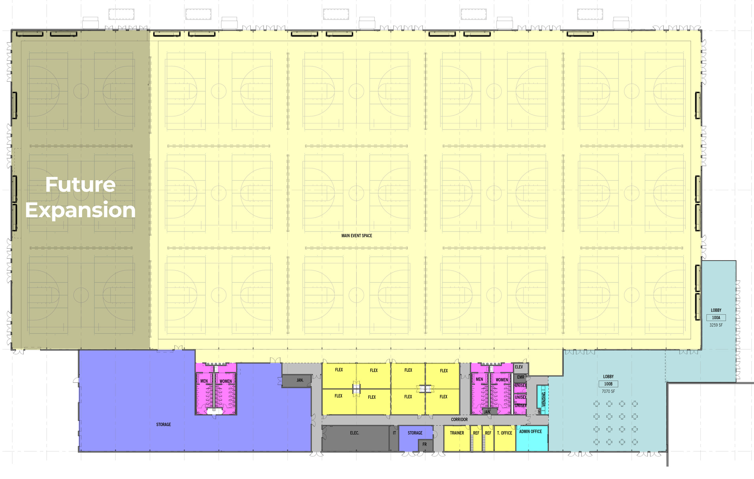 Placer Valley Event Center Floor Plan with Possible Expansion