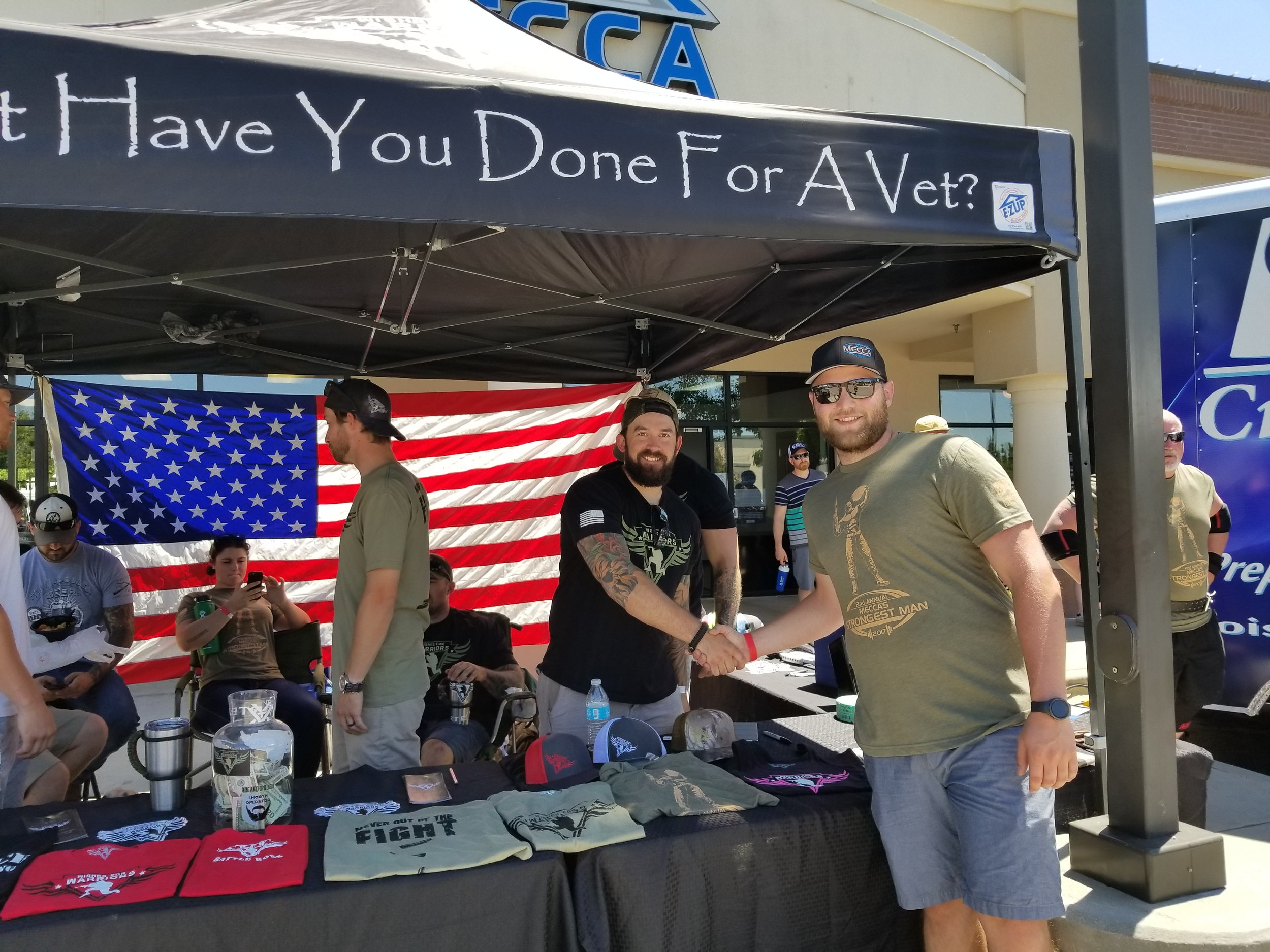 HD Insurance employee, Drew Colwell, volunteering at an event for  Wishes For Warriors  in July 2017