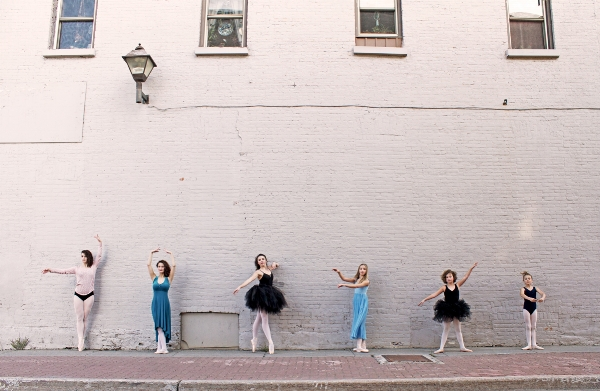 Dancers posed against the wall - Lindsay Dance Studio