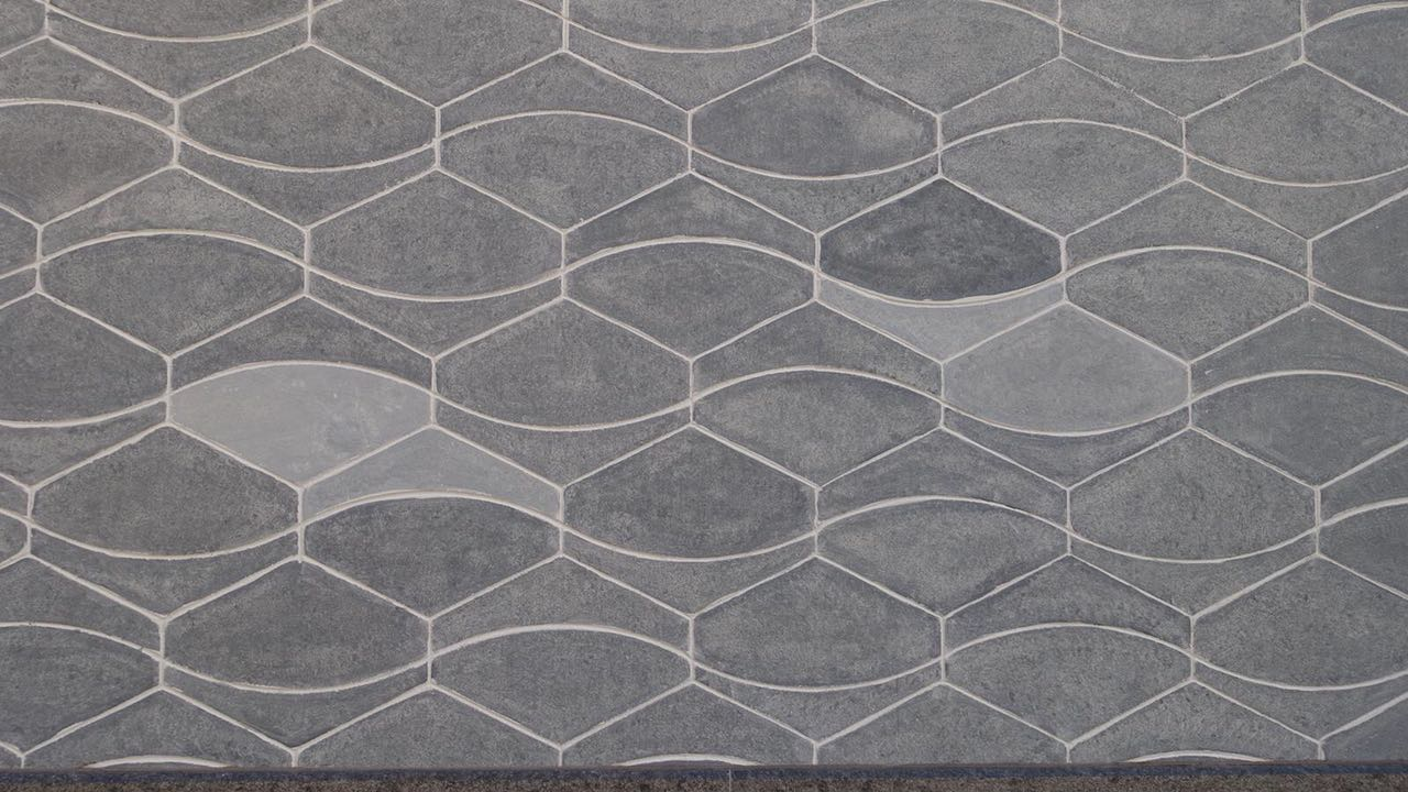 BEECK Concrete Stone Glaze Project - Swiss Alps Resort Edelweiss Close Up
